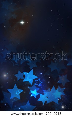 Abstract background with stars - stock photo