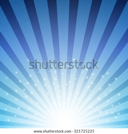 abstract background with stars and stripes in blue color - stock photo