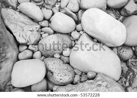 abstract background with stones (black and white) - stock photo