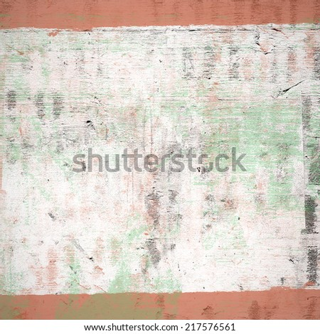 Abstract background with texture, white stripe with red stripes on the sides - stock photo