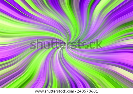 Abstract background with the green and purple twist  lines. - stock photo