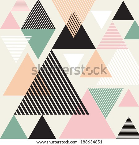 Abstract background with triangles - stock photo