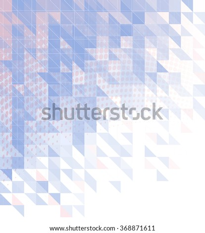 abstract background with triangles, squares and lines - stock photo