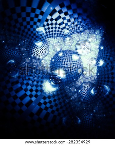Abstract background with unique unusual pattern with the effect of metallic luster interesting and complex geometry - stock photo