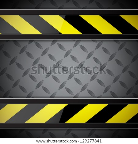 Abstract background with warning stripe. Raster version of the loaded vector