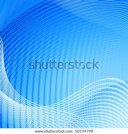 Abstract background with waves of blue colour
