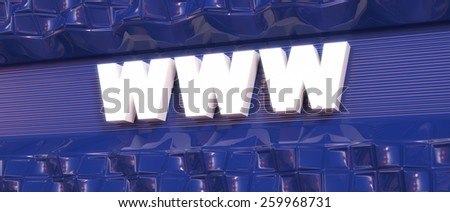 Abstract background. Word concept. Text WWW. 3d render. - stock photo