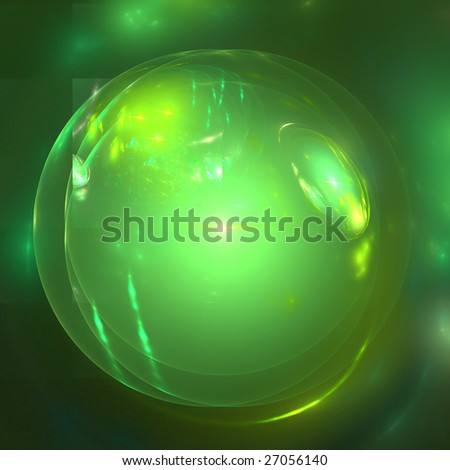 Abstract background. Yellow - green palette. Raster fractal graphics.