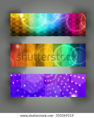 Abstract backgrounds. Banner set