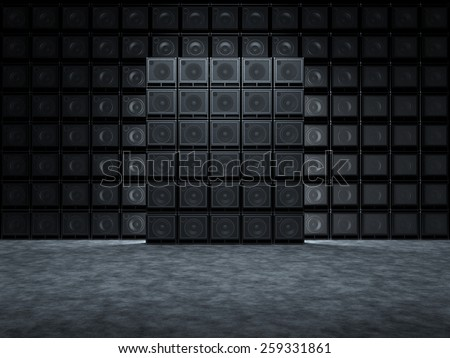 Abstract  backgrounds of guitar ampl - stock photo