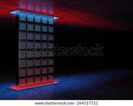 Abstract backgrounds of guitar amplifiers - stock photo