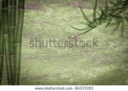 abstract bamboo green background - stock photo