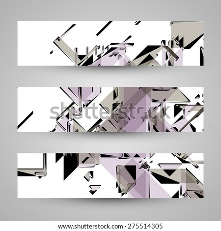 Abstract banner backgrounds,  futuristic art illustration  - stock photo