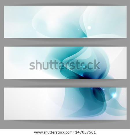 Abstract banner in blue color.  - stock photo