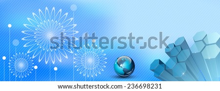 Abstract banner or header - stock photo