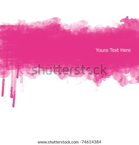 Abstract banner watercolor background
