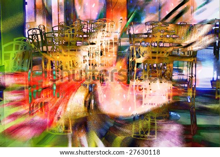 abstract bar ready to merry party - stock photo
