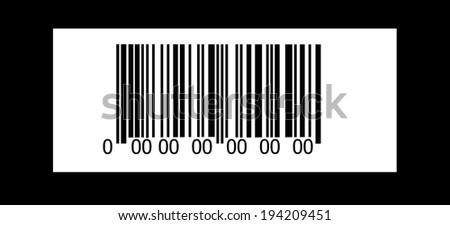 Abstract barcode security pattern background  on black background - stock photo