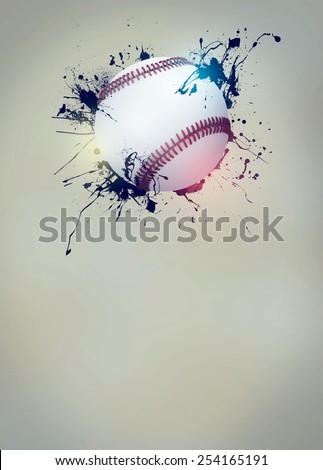 Abstract baseball sport invitation poster or flyer background with empty space - stock photo