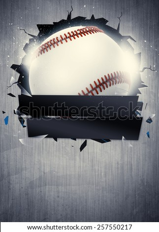 Abstract Baseball Sport Invitation Poster Flyer Stock Illustration