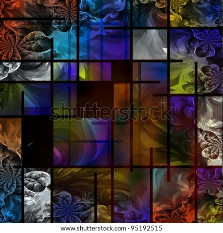 Abstract based in part on modern art - stock photo