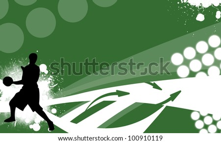 Abstract basketball or streetball background with space (poster, web, leaflet, magazine)