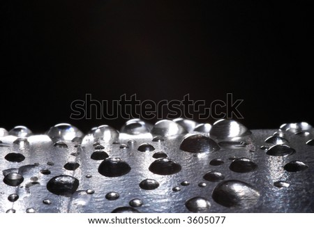 abstract bcakground of water drops; (shallow DOF)