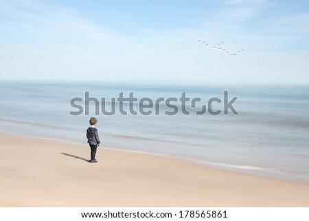 abstract beach - stock photo