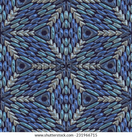 Abstract beads background, Seamless pattern - stock photo