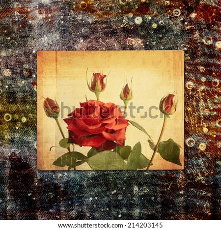 Abstract beautiful background in the style of mixed media with chaotic ornament - stock photo