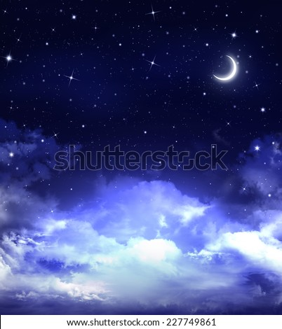 abstract beautiful background, nightly sky
