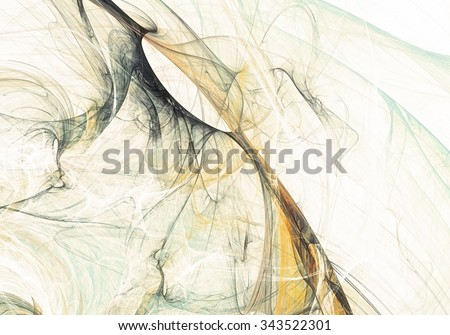 Abstract beautiful grey and yellow soft color vintage background. Dynamic smoke painting texture. Modern futuristic pattern. Fractal artwork for creative graphic design - stock photo