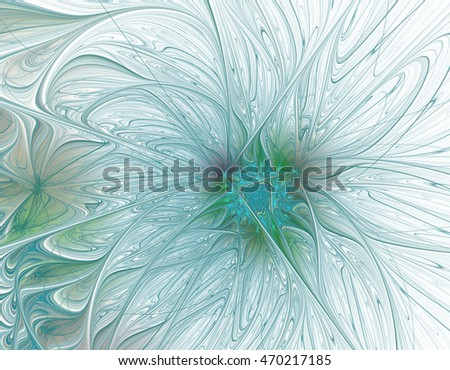 Abstract beautiful light blue flower on white background