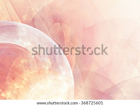 Abstract beautiful pink and yellow color shiny background. Soft pattern with lighting effect. Fractal artwork for creative graphic design - stock photo