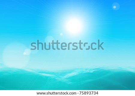 Abstract beautiful sea and sky background - stock photo