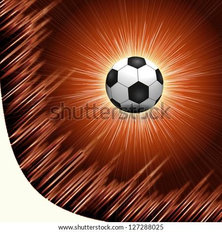 Abstract Beautiful soccer Background - stock photo