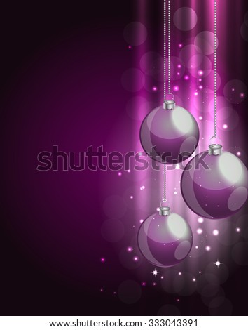 Abstract beauty Christmas and New Year background. Illustration