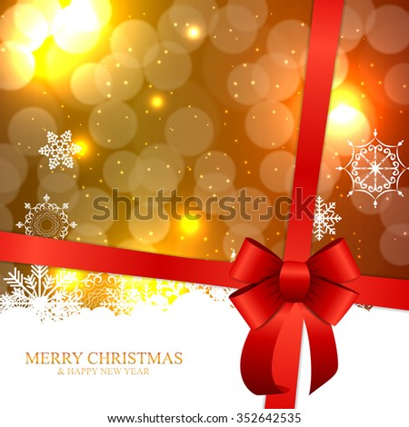 Abstract Beauty Christmas and New Year Background. Illustration.