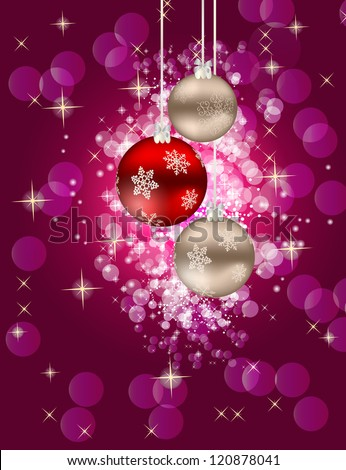 Abstract beauty Christmas and New Year background. Raster version.
