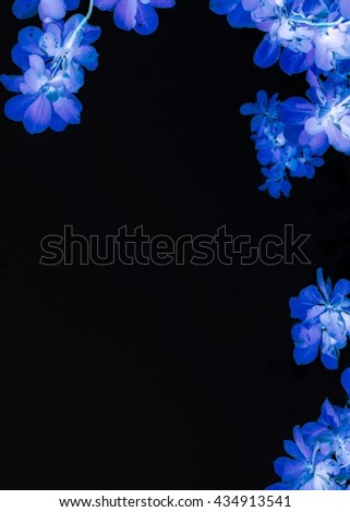 abstract beauty leaves and flower background pattern. - stock photo