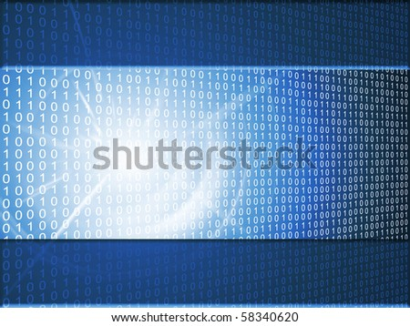 abstract binary background - stock photo