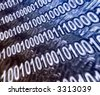 abstract binary code - stock photo