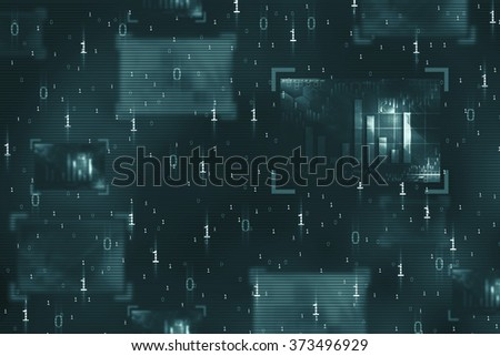 abstract binary code on digital screen