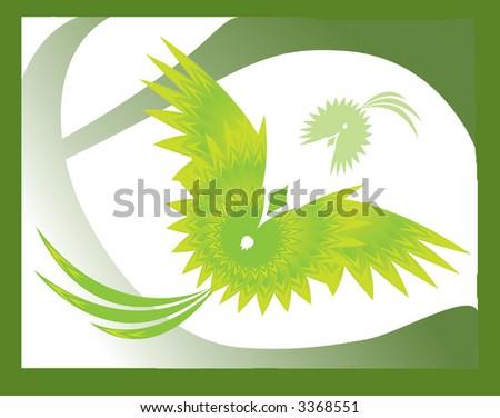 abstract bird - stock photo