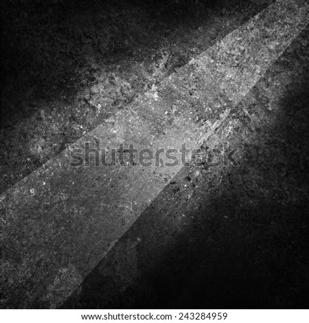 abstract black and white background design with rough texture and angled stripe design - stock photo