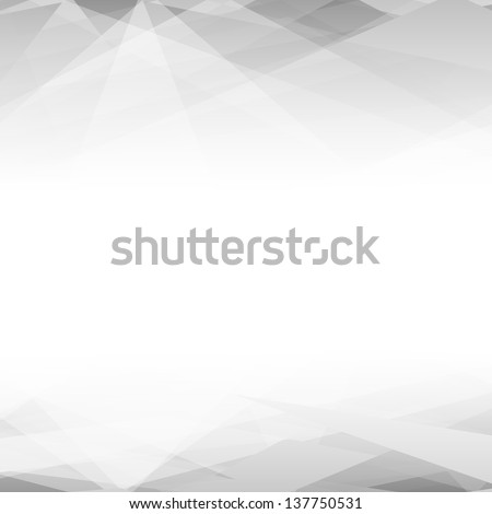 Abstract black and white background. Lowpoly vector illustration - stock photo