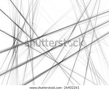 Abstract black and white background with crossing lines