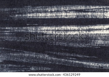 Abstract black and white Cotton fabric pattern texture as background - stock photo
