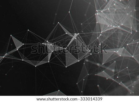 Abstract Black and White Digital Particles Background