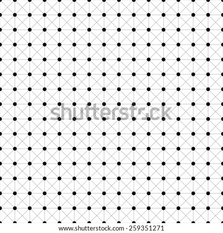 Abstract black and white geometric mosaic background.  illustration.